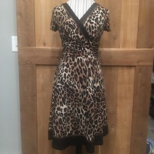 Sandra Darren Dresses - Sandra Darren Leopard Swing Dress EUC Size 8P